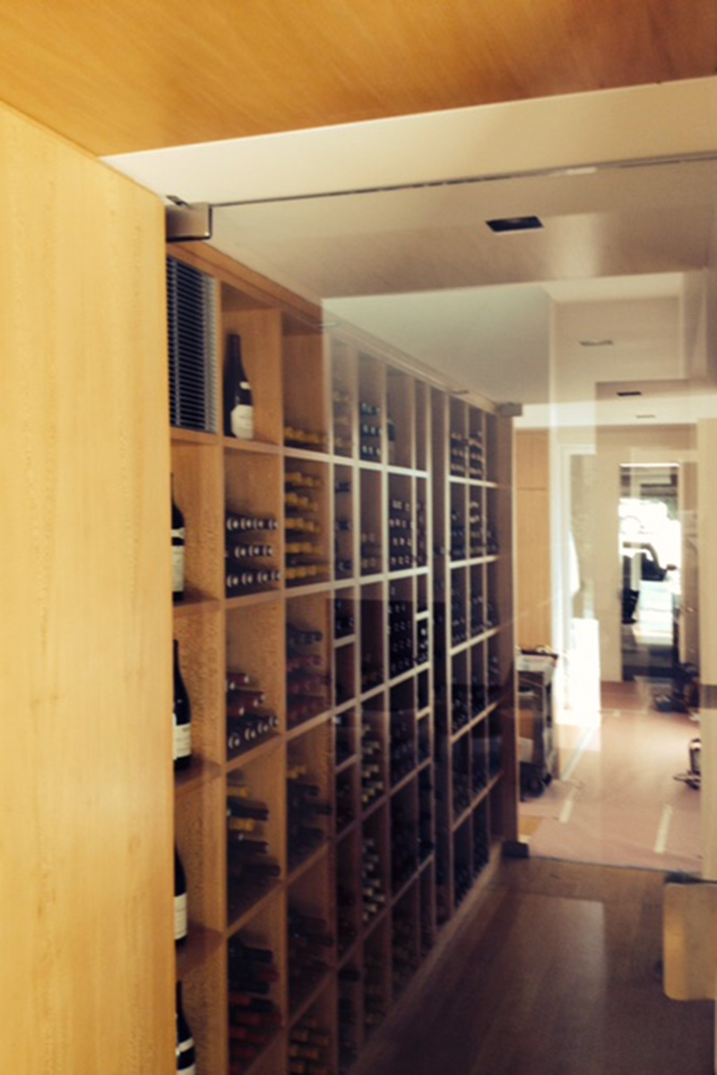Climate-Controlled Wine Storage Space